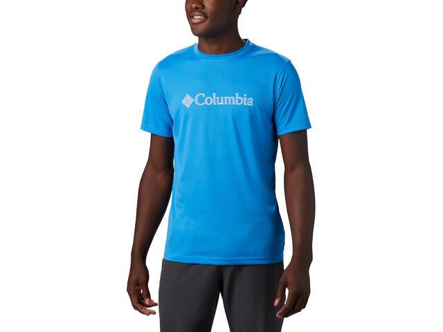 Columbia Zero Rules Graphic T-shirt Heren, azure blue topo lines